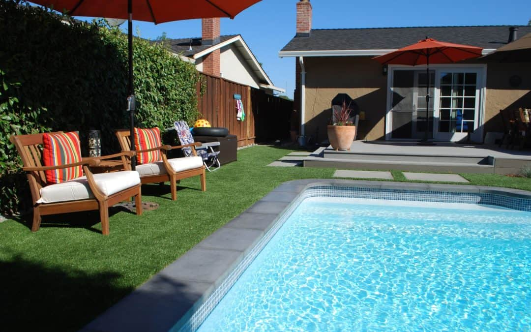 Artificial Turf Pool Area Will Never Turn to Mud or Look Messy